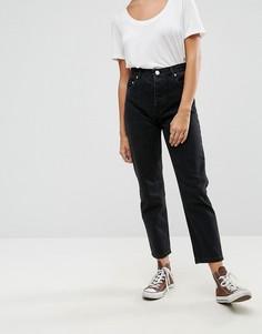 Черные прямые выбеленные джинсы ASOS FLORENCE - Черный