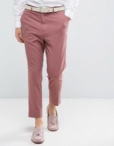 Зауженные строгие брюки ASOS - Розовый