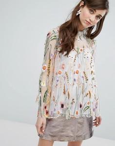 Блузка с вышивкой Sister Jane - Мульти