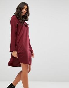 Свободное платье с оборкой Brave Soul - Красный