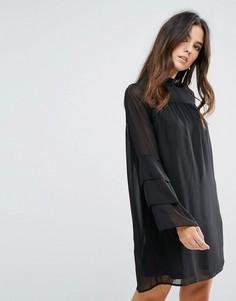 Прозрачное платье Brave Soul - Черный