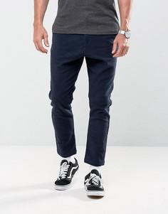 Суженные книзу брюки Solid - Темно-синий
