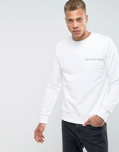 Свитер с вышитым логотипом Calvin Klein - Белый