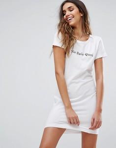 Платье Wildfox Je Ne Sais Quoi - Белый