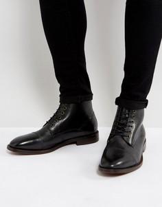 Черные кожаные ботинки на шнуровке Hudson London Seymour - Черный