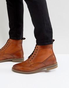 Светло-коричневые кожаные броги Base London Hurst - Рыжий