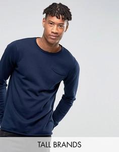 Джемпер с карманом D-Struct TALL - Темно-синий