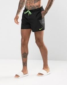 Черные короткие шорты для плавания с тиснением и логотипом Nike NESS7434001 - Черный