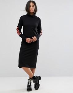 Платье-поло миди с логотипом Back by Ann Sofie Back - Черный