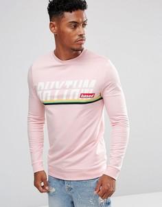 Облегающий свитшот с принтом ASOS - Розовый