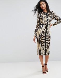Платье миди на пуговицах с анималистическим принтом Forever Unique - Мульти
