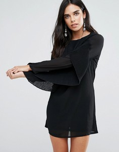 Платье с рукавами-оборками Love & Other Things - Черный