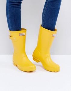 Невысокие резиновые сапоги желтого цвета Hunter Original - Черный