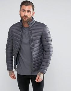 Короткая дутая куртка Puffa - Серый