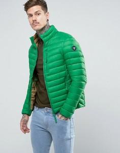 Короткая дутая куртка Puffa - Зеленый