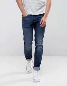 Зауженные джинсы слим Edwin ED-80 - Синий