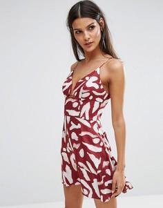 Платье мини с принтом Finders Mercurial - Красный