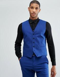 Приталенный жилет под смокинг Selected Homme - Синий