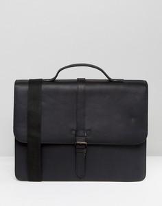 Черная кожаная сумка сэтчел ASOS - Черный