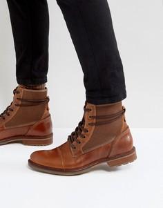 Светло-коричневые кожаные ботинки на шнуровке ALDO Gweawien - Рыжий