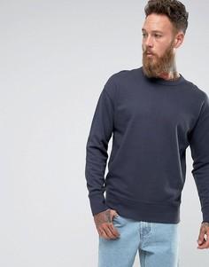 Свитшот с заниженной линией плеч Selected Homme - Темно-синий