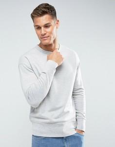 Свитшот с заниженной линией плеч Selected Homme - Серый