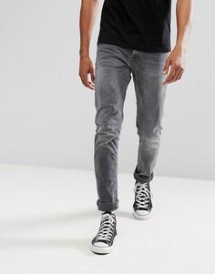 Серые джинсы скинни Nudie Jeans Co Tilted Tor - Серый