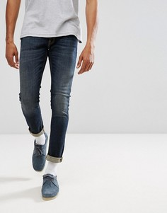 Синие зауженные джинсы Nudie Jeans Co Lin - Синий