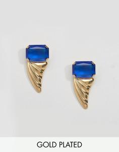Позолоченные серьги с камнями Gogo Philip - Золотой