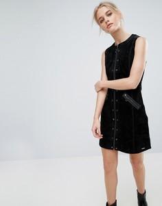 Замшевое платье A-силуэта Pepe Jeans Marche - Черный