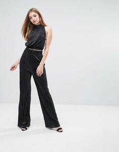 Плиссированные брюки Love - Черный