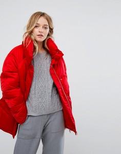 Дутая куртка Monki - Красный