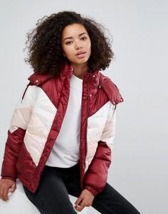 Дутая куртка в стиле колор блок Monki - Мульти