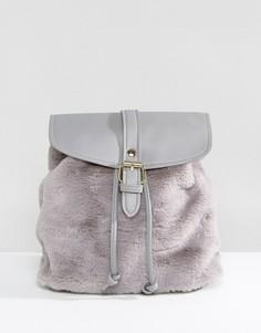 Серый рюкзак с искусственным мехом Glamorous - Серый