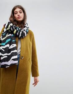 Большой легкий шарф с зебровым принтом ASOS - Мульти