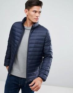 Стеганая куртка с наполнителем из натурального пуха Esprit - Темно-синий
