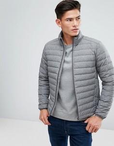 Стеганая куртка с наполнителем из натурального пуха Esprit - Серый
