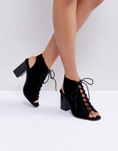 Босоножки со шнуровкой ASOS TRINDY - Черный