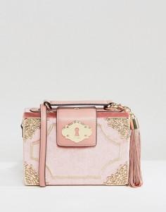 Маленькая светло-розовая сумка через плечо ALDO Zosimo - Розовый