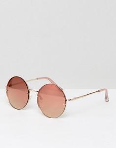 Круглые солнцезащитные очки ALDO Kaasa - Золотой