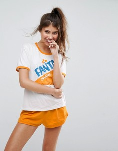Пижамный комплект Fanta с футболкой и шортами ASOS - Мульти