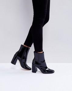Лакированные ботинки ASOS ENGAGE - Черный