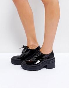 Туфли на массивном каблуке ASOS OFFICER - Черный