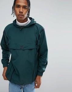 Зеленый анорак с отделкой кантом adidas Originals Chicago Pack BR5077 - Зеленый