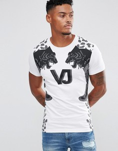 Белая футболка с логотипом Versace Jeans - Белый