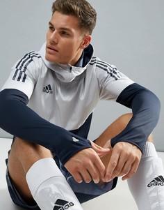Худи темно-синего цвета adidas Football CE9574 - Темно-синий