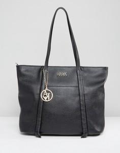 Черная сумка-тоут с эффектом металлик Armani Jeans - Черный