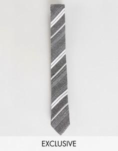 Хлопковый галстук в полоску Noak - Серый