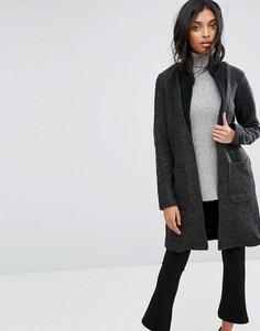 Длинная куртка с добавлением шерсти Y.A.S - Серый