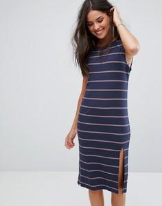 Трикотажное пляжное платье в полоску Rip Curl - Темно-синий Ripcurl